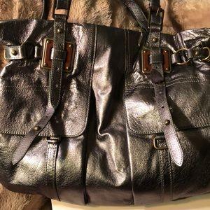 Elliott Luca leather pewter tote